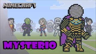 Minecraft: Pixel Art Speed Build and Showcase: Mysterio (Spider-Man: Far From Home)