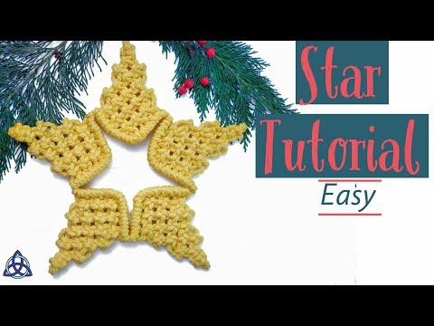 Macrame Star Tutorial   Christmas Star DIY   Macrame Wall Hanging