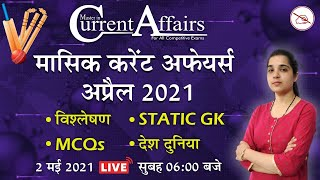 Daily Current Affairs 2021 | MCQ | By Pooja Mahendras | 2 May 2021 | Master in Current Affairs
