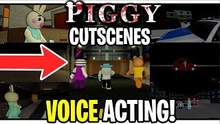 PIGGY ALL CUTSCENES + VOICE ACTING!  (Roblox Piggy: Book 1 - All Cutscenes)