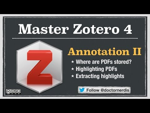 Understanding Zotero: Working with PDFs