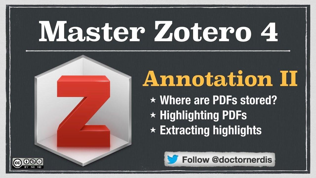 Zotero Tutorial: Working With Pdfs