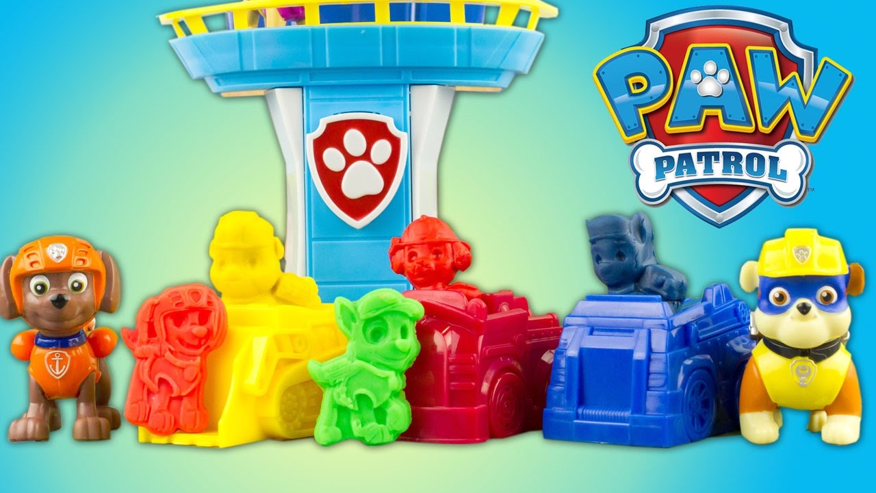 paw patrol play doh mold set to the rescue pat patrouille pate modeler patrulla de cachorros toy