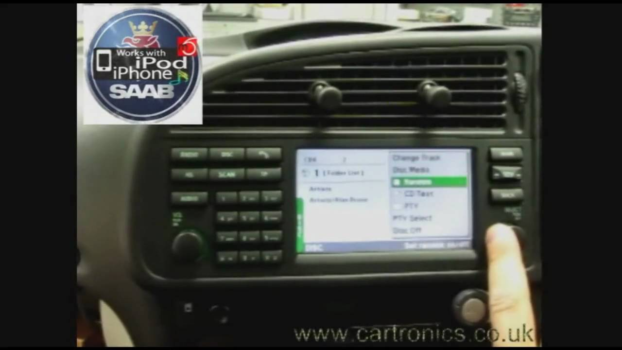 Mobridge Ipod Adapter System In A Saab 2003 06 Icm Youtube