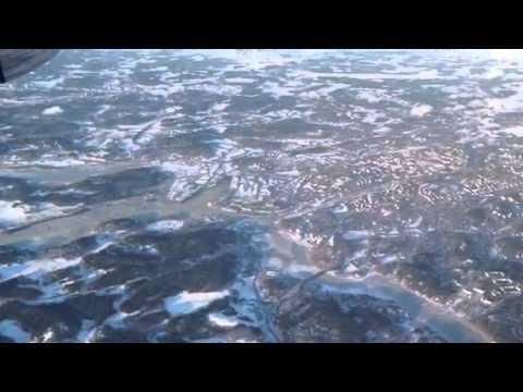 Flying in over Turku.fi Castle