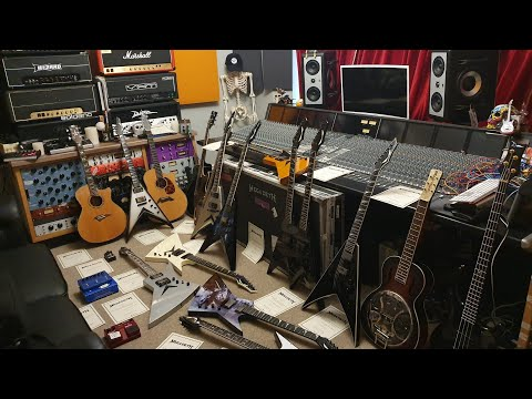 HUGE Dave Mustaine Megadeth Personal Guitar Collection At Essex Recording Studios