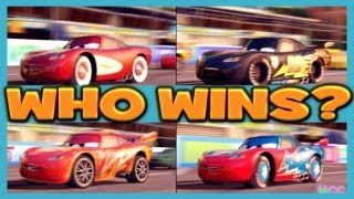 Cars 2 The Game LIGHTNING MCQUEEN, DRAGON, DAREDEVIL, CARBON FIBER and RADIATOR 4 Player Race