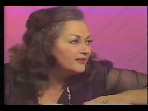 Yvonne De Carlo--1982 TV Interview, Joe Franklin Show, Tim Choate