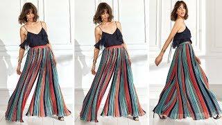 HOW TO MAKE A PALAZZO PANTS  I BEGINNER SEWING    DIY CLOTHES LIFE HACKS