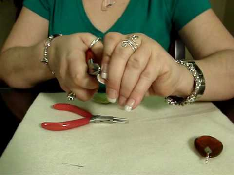 How To Make A Wire Wrapped Pendant Youtube
