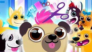Делаю прически смешным щенкам в салоне красоты для животных | Детская игра про собак