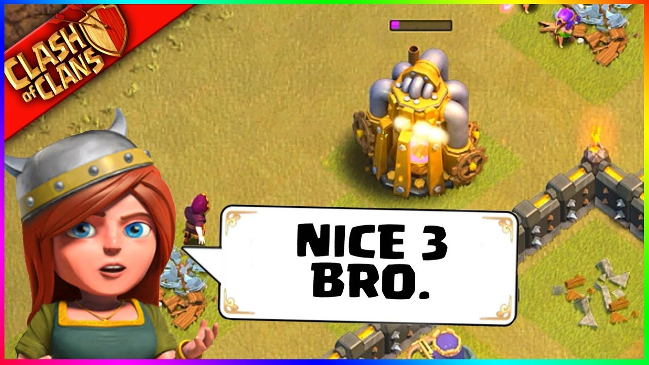 """""""NICE 3, BRO?"""" ▶️ Clash of Clans ◀️ A NEW CHAPTER OF AWESOME"""