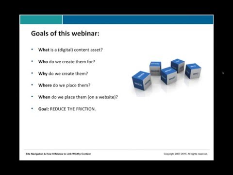 Website Navigation For Link-Worthy Content Assets - With Eric Ward, Shari Thurow & Garrett French