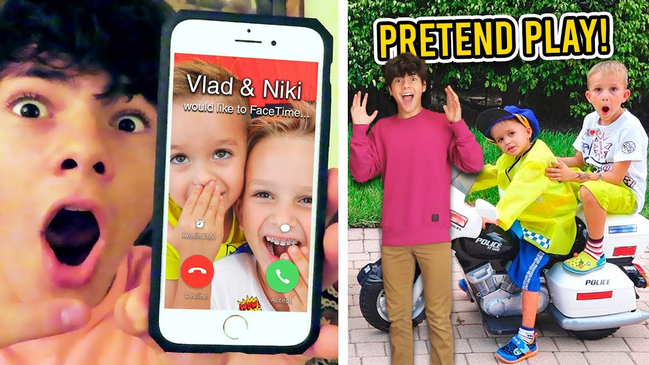 VLAD AND NIKI FACETIMED ME!! *WE PRETEND PLAY IN REAL LIFE*