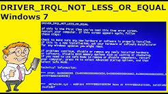 How To Fix DRIVER_IRQL_NOT_LESS_OR_EQUAL Windows 7 - Stop Code 0x000000d1