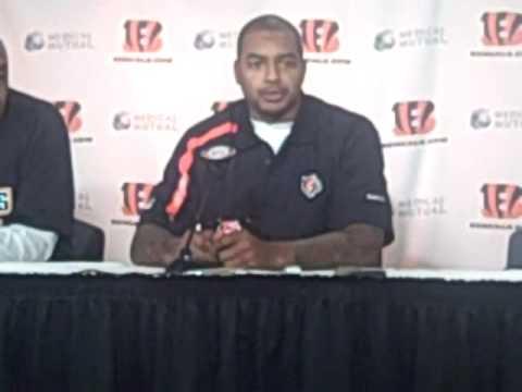 Larry Johnson speaks with Cincinnati media