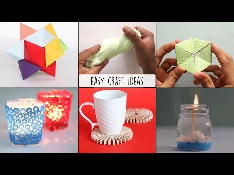 6 Easy Craft Ideas | Handmade Crafts | Ventuno Art