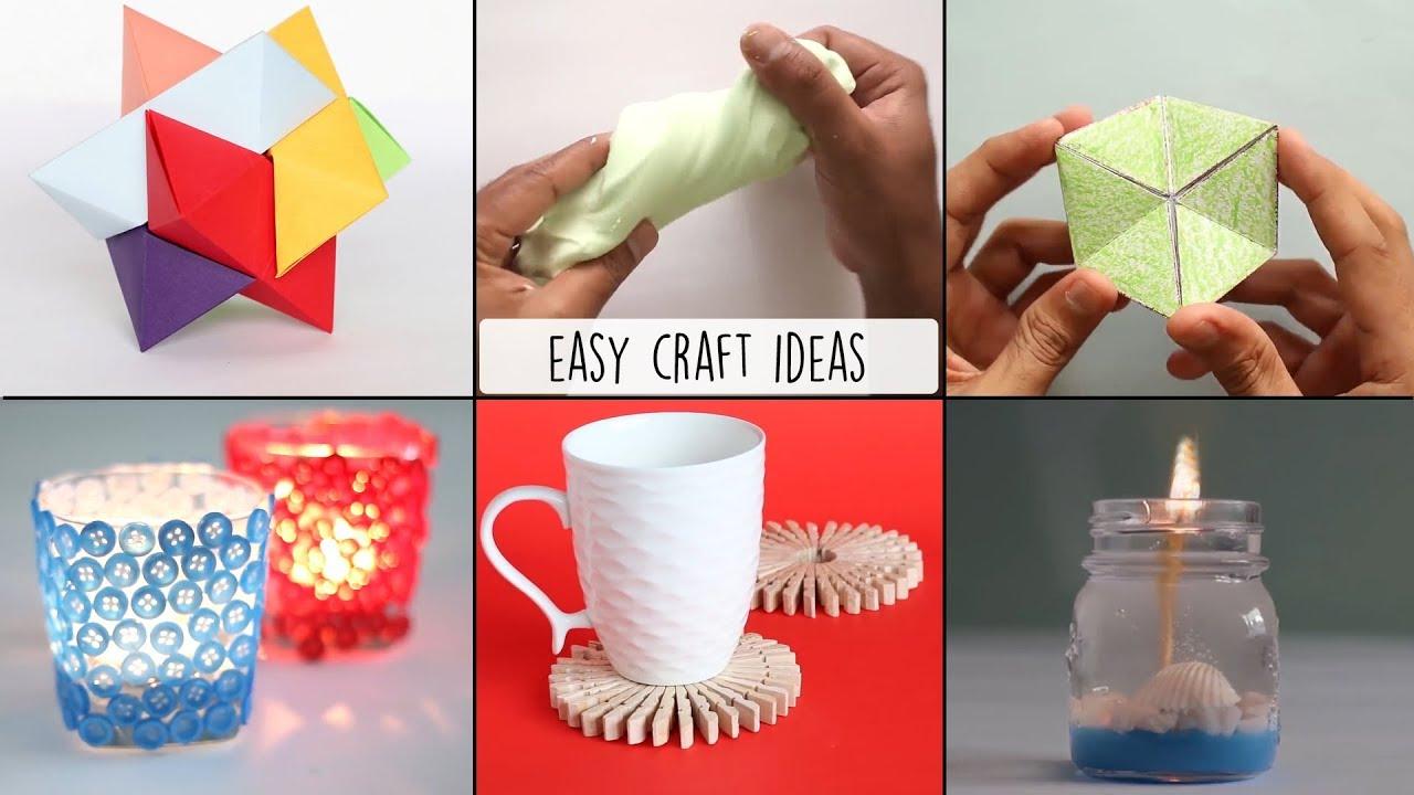 6 Easy Craft Ideas Handmade Crafts Ventuno Art Youtube