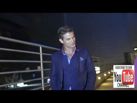 Casper Van Dien talks about his role on Starship Troopers while leaving ArcLight Theatre