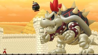 New Super Mario Bros U - Dry Bowser Boss Battle