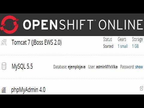 Openshift: Java web Hosting, Tomcat, MySQL online