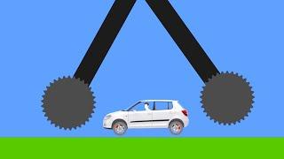 Extreme Car Destruction  Phun Algodoo Crazy Car Crashes