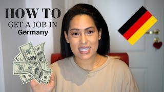 HOW TO GET A JOB IN GERMANY (tips)
