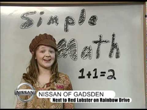 Nissan Of Gadsden Simple Math 2 Wmv Youtube