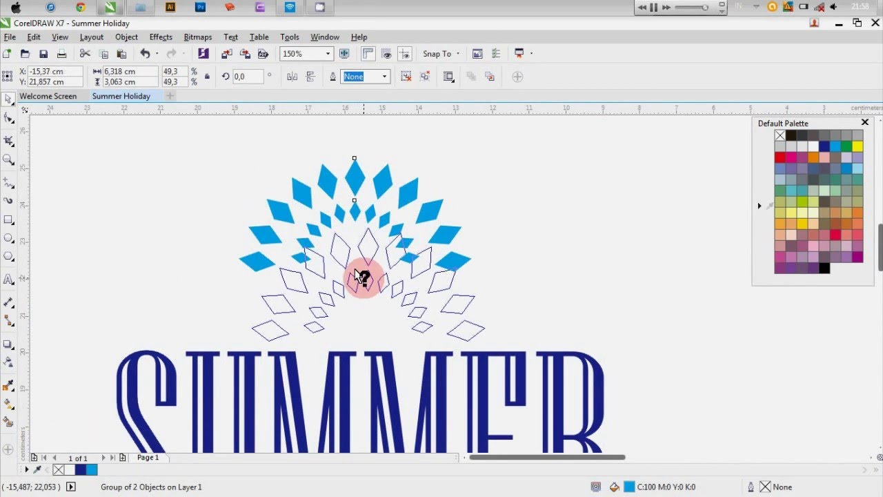 tutorial corel draw x7 how to make a simple poster