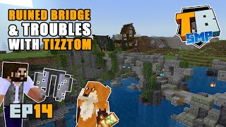 Building a ruined bridge and troubles withTizztom  | Truly Bedrock Season 2 [14] | Minecraft Bedrock