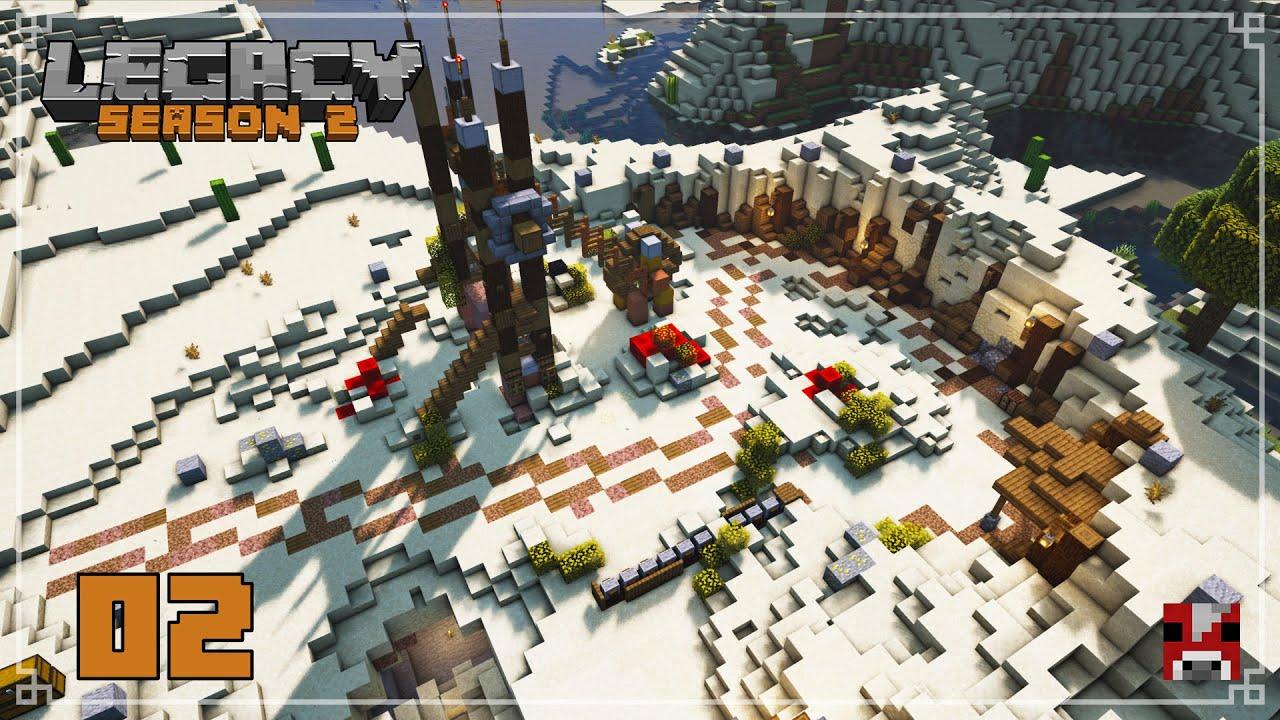 Legacy Season 2 - 02 - Building our COMMUNITY MINE | Survival Minecraft SMP 1.16