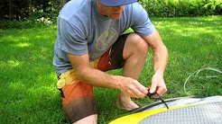 How to attach a leash to your Stand Up Paddleboard (SUP)
