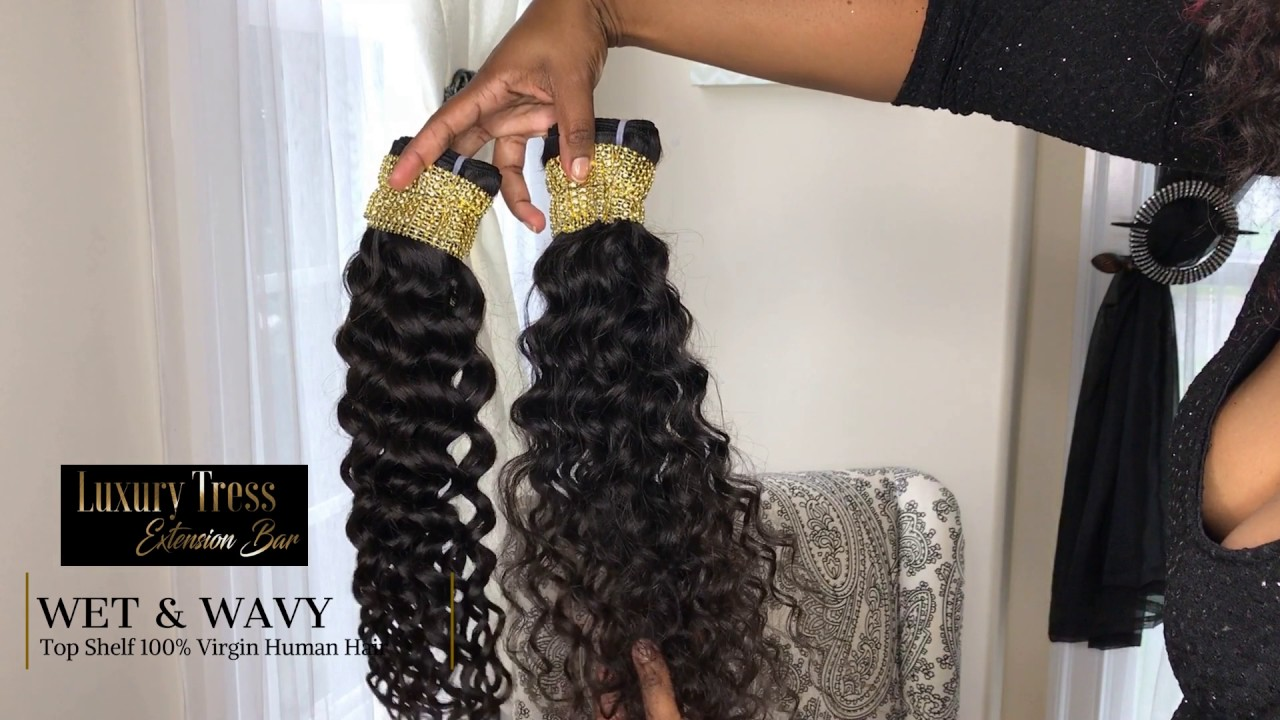Luxury Tress Extension Bar Wet & Wavy Virgin Hair