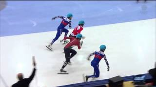 Samuel Girard / Men`s 500m (2) semifinal heat1 - ISU World Cup Short Track Speed Skating Toronto