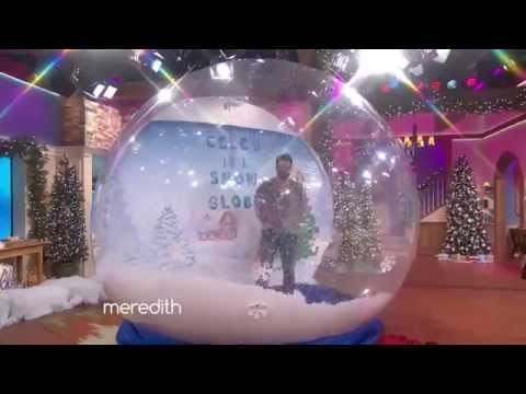 Maksim chmerkovskiy is the celeb in a snow globe the meredith vieira show