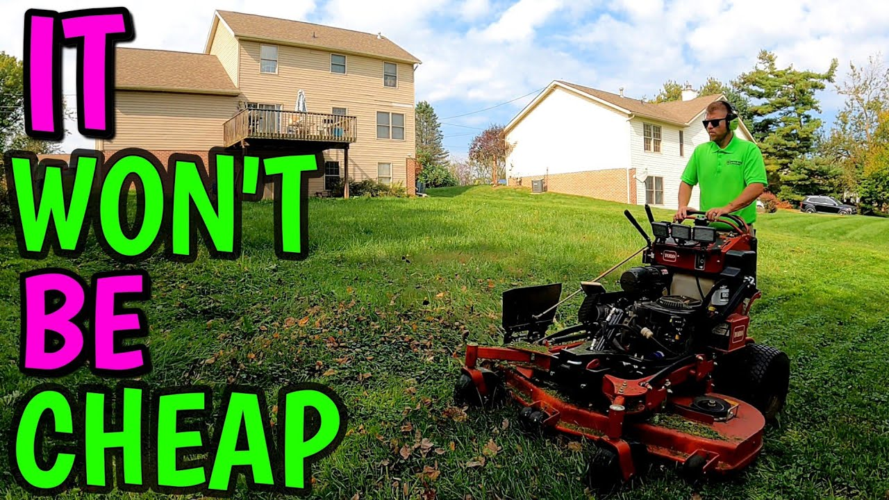 CUSTOMER CAN'T FIND A COMPANY TO CUT HER LAWN   NEIGHBORS ARE RELIEVED ITS DONE!
