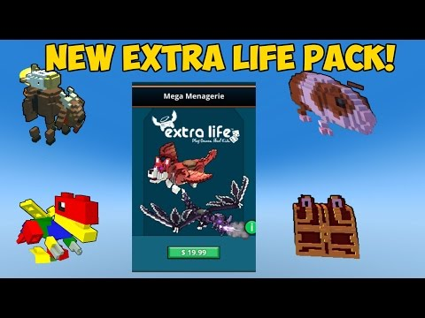 "Trove: ""Mega Menagerie"" New Extra Life Pack New Allies/Mounts/Costumes/Styles"