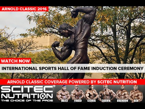 Johnny Bench, Kurt Angle, Ronnie Coleman- 2016 International Sports Hall of Fame