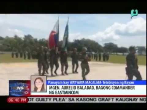 News@6: M/Gen. Aurelio Baladad, bagong commander ng EastMinCom  || Sept. 5, 2014