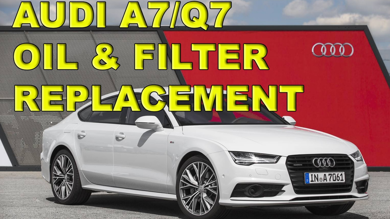 Audi A7 Q7 30 V6 Tdi Oil And Filter Service Youtube