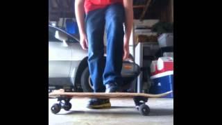 How to jump on a skateboard!