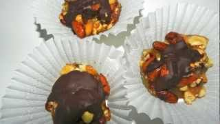 Chewy Nutty Candy Recipe - With Assorted Nuts Dipped In Chocolate