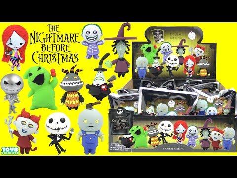 Opening Tim Burton's Nightmare Before Christmas Figural Keyrings