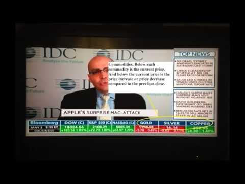 How to Read a Stock Ticker on Bloomberg Television