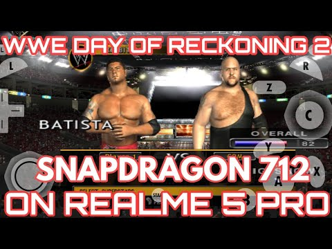 WWE DAY OF RECKONING 2 GAMEPLAY ON REALME 5 PRO | DOLPHIN MMJ EMULATOR