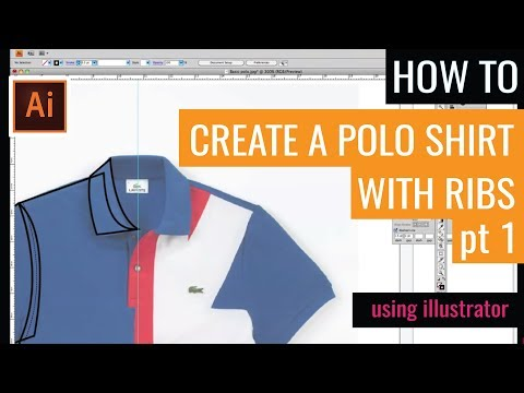 Technical flat drawing for fashion: Creating a technical drawing - Polo Shirt part 1