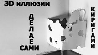 3D ИЛЛЮЗИИ ИЗ БУМАГИ / Киригами / своими руками