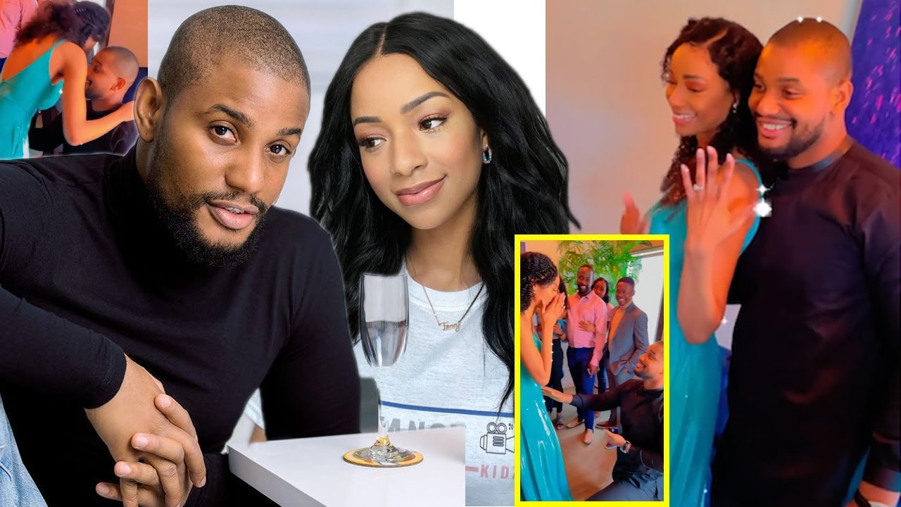 Download Big Congrats! Watch Sweet Moment Actor Alexx Ekubo Proposes To His Wife To Be Fancy Acholonu.