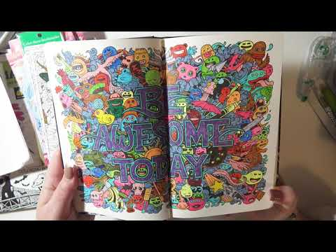 My Ridiculous Adult Coloring Book Collection - Challenging Myself To Use Them