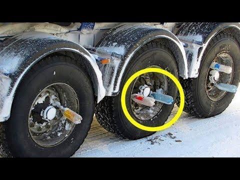 Das ist der Grund, warum einige Lkw-Fahrer nicht losfahren ohne Plastikflaschen in den Rädern!